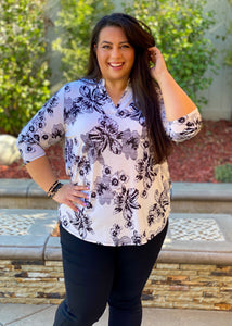 Midnight Melody Floral Tunic