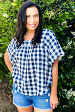 Load image into Gallery viewer, Day at the Park Woven Plaid Top