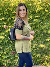 Load image into Gallery viewer, Olives & Martinis Lace Short Sleeve Top
