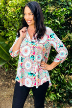 Load image into Gallery viewer, Mandala Bliss 3/4 Sleeve Top