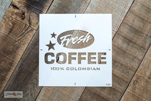 Fresh Coffee Stencil