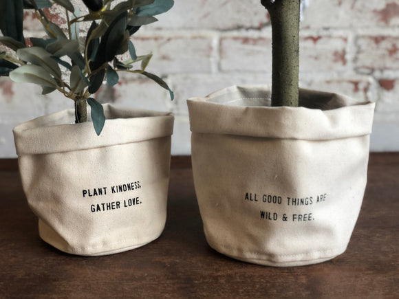 Canvas Planters, 2 sizes