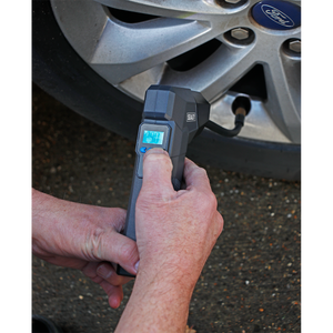 Compact Rechargeable Tyre Inflator & Powerbank with Work Light