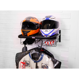 Motorcycle Helmet & Gear Tidy