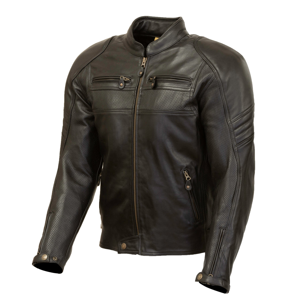 Odell Mens Leather Jacket