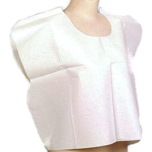 Exam Capes Standard Tissue/Poly/Tissue White  - 100/Case