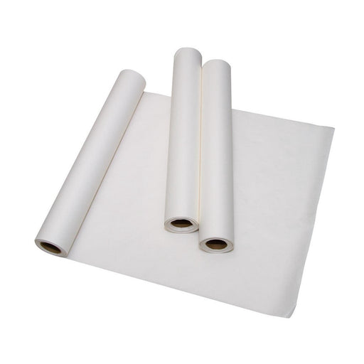 "Crepe Exam Table Paper Barriers; 21""x 125' Rolls, White, Poly-Backed, 12/Case"
