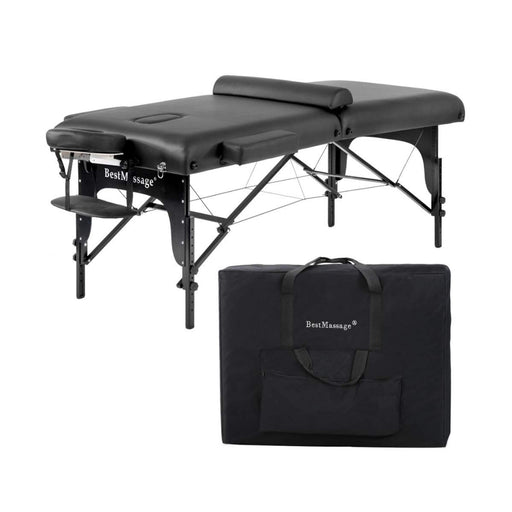 "Portable Massage Table 4"" Density Top - Black"