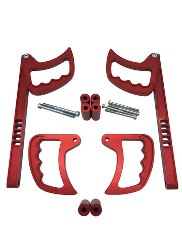 Jeep Wrangler Interior Grab Handle Set - Red