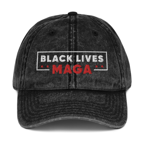 Black Lives MAGA Vintage Hat