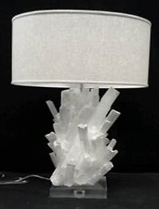 Natural Selenite Table lamp