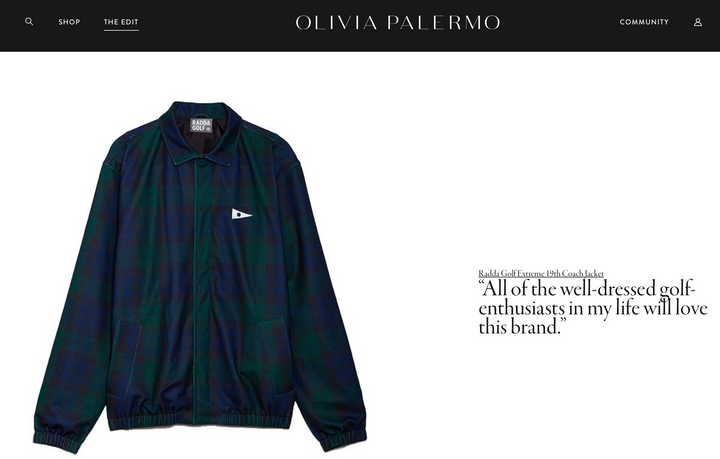 Olivia Palermo Picks Radda Golf
