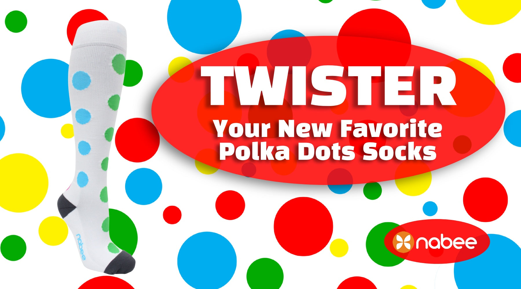 Twister - Your New Favorite Polka Dot Socks!