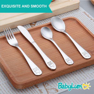 16pcs Stainless Steel Utensils Set for Kids - BabyLum