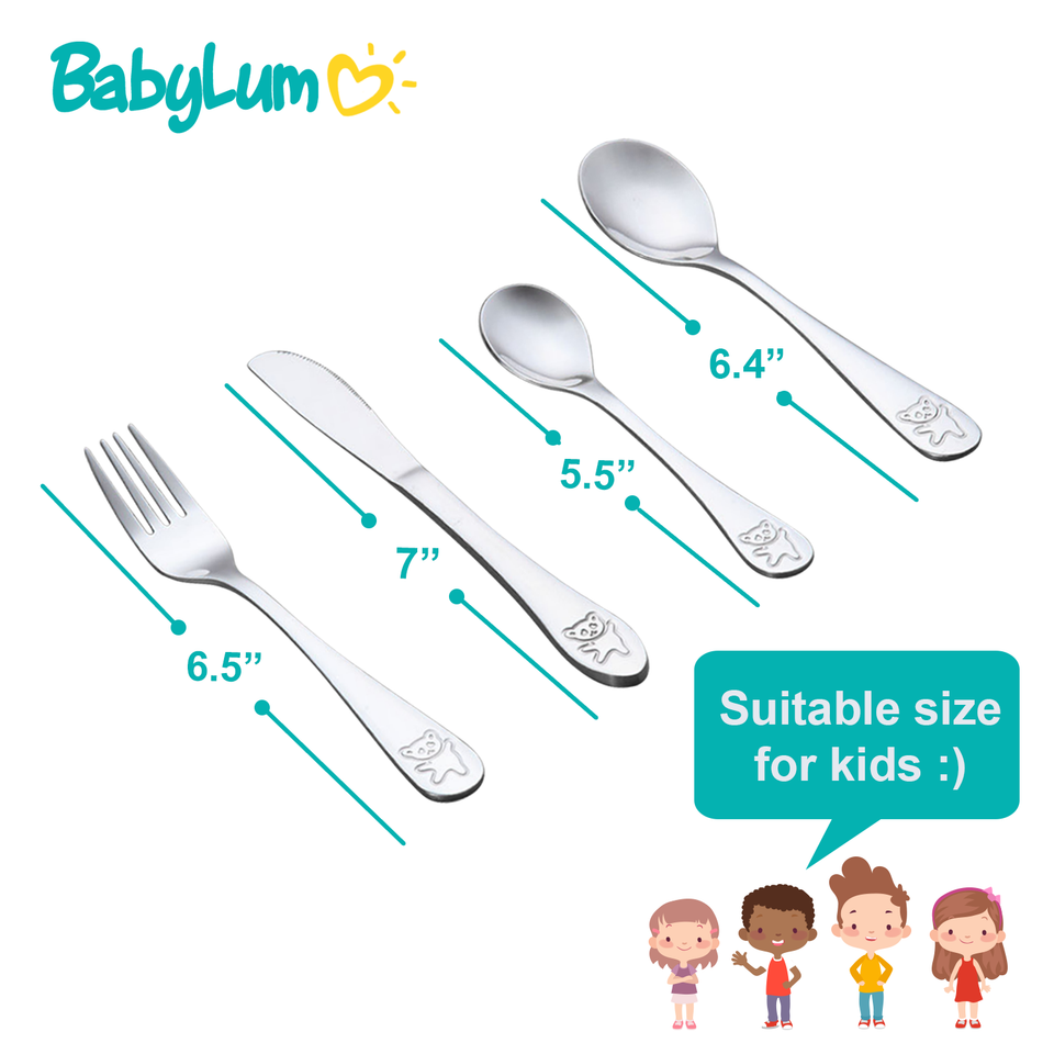 32pcs Stainless Steel Utensils Set for Kids - BabyLum