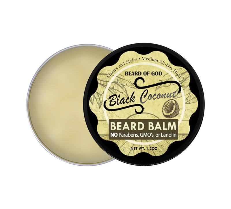 Black Coconut Hand-Poured Beard Balm - beardofgod