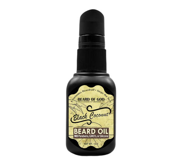 Black Coconut Nourishing Beard Oil - Beard of God