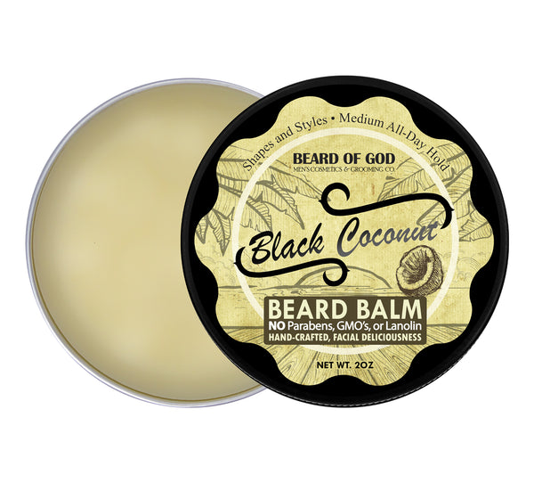 Black Coconut Hand-Poured Beard Balm - Beard of God