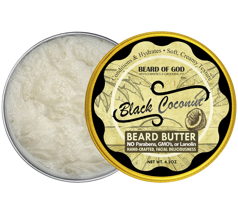 Black Coconut Hand-Whipped Beard Butter - Beard of God