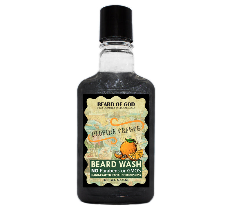 Florida Orange Titanium Shimmer Beard Wash - beardofgod