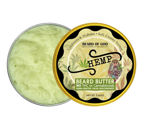 Hemp 🍁 Hand-Whipped Beard Butter - Beard of God
