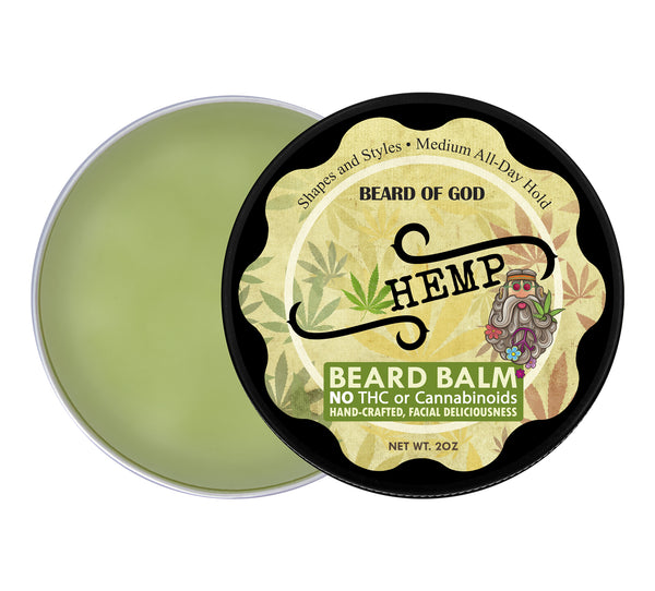 Hemp 🍁 Hand-Poured Beard Balm - Beard of God