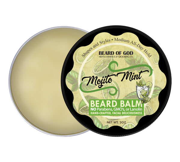 Mojito Mint Hand-Poured Beard Balm - Beard of God