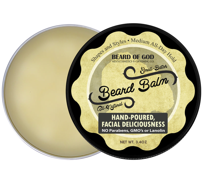 Vetiver Stone Hand-Poured Beard Balm - Beard of God