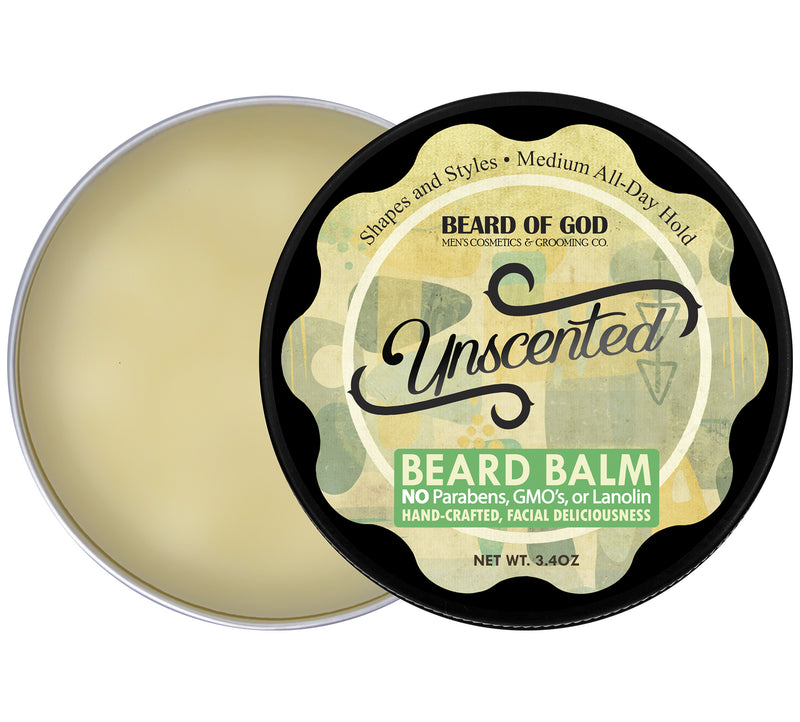 Unscented Hand-Poured Beard Balm - Beard of God