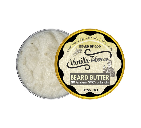 Vanilla Tobacco Hand-Whipped Beard Butter - Beard of God