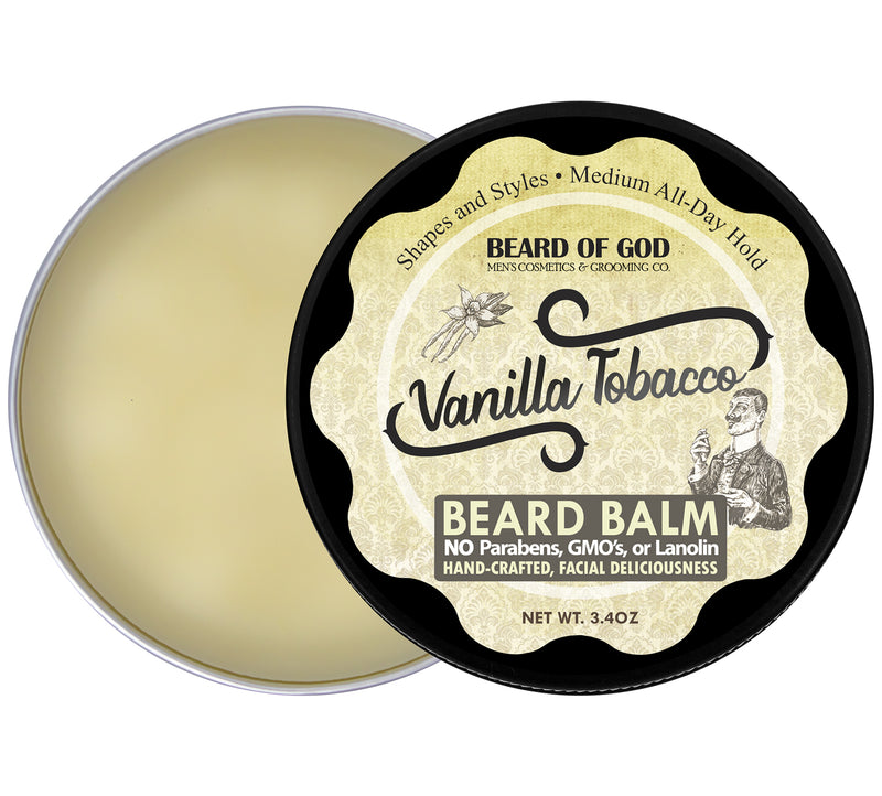 Vanilla Tobacco Hand-Poured Beard Balm - Beard of God