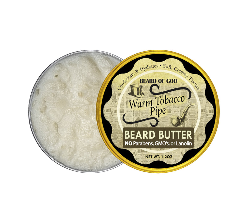 Warm Tobacco Pipe Hand-Whipped Beard Butter - Beard of God