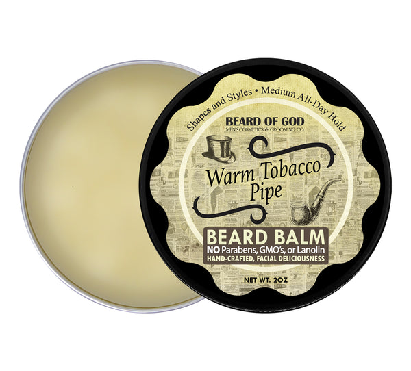 Warm Tobacco Pipe Hand-Poured Beard Balm - Beard of God