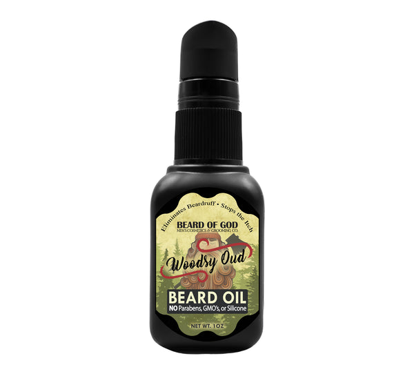 Woodsy Oud Nourishing Beard Oil - Beard of God