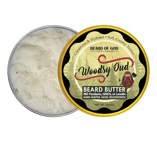 Woodsy Oud Hand-Whipped Beard Butter - Beard of God