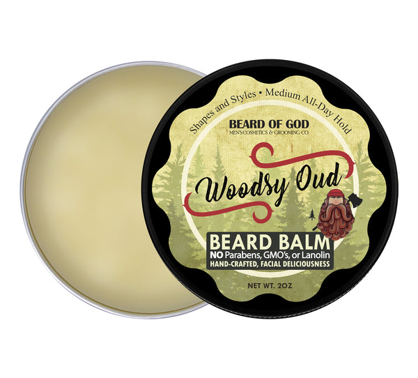 Woodsy Oud Hand-Poured Beard Balm - Beard of God