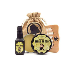 Ares Kit | 2oz Beard Balm, 1oz Beard Oil, & Comb - beardofgod