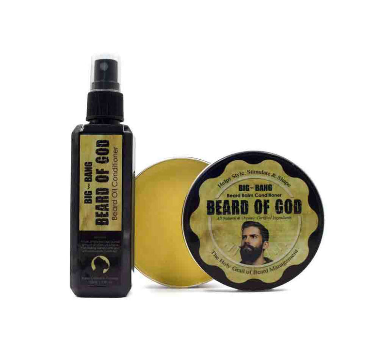 Big Bang ⚡ 3.4oz Beard Oil and Balm - beardofgod