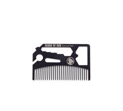 5-in-1 Credit Card Survival Tool • Beard Comb, Bottle Opener, Screwdriver, Blade Break, & Wrench - beardofgod