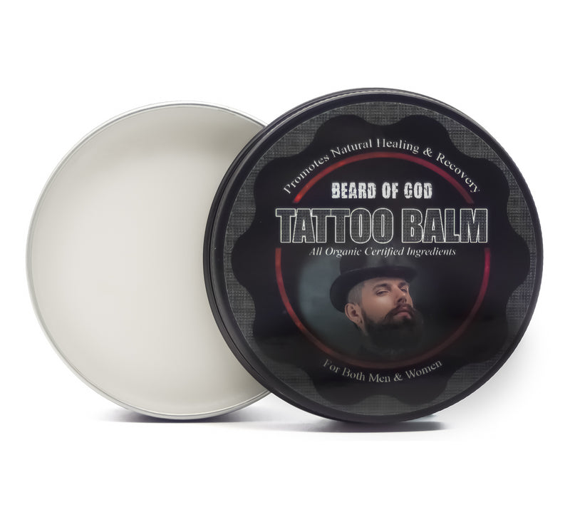 Organic 🌱 Tattoo Balm Aftercare - Promotes Healing & Recovery - Beard of God
