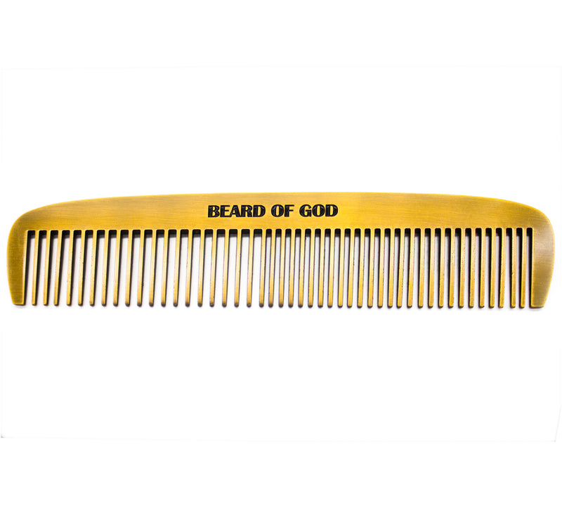 Weighted Barber-Grade Comb - Beard of God