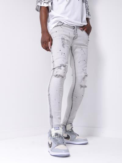 GREY WALL JEANS