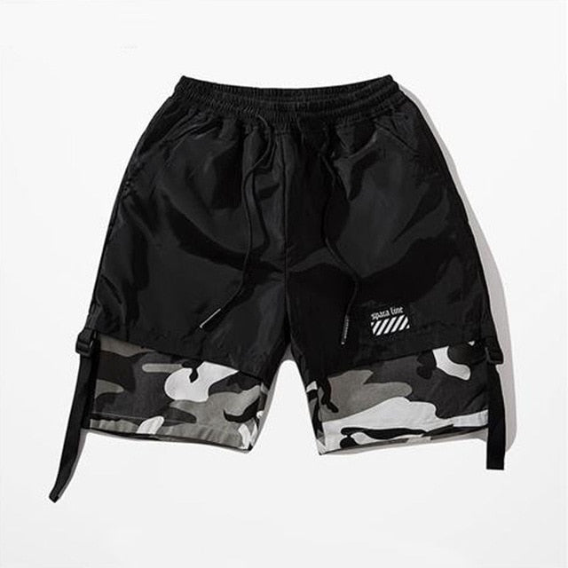 Camouflage Slim Fit Shorts