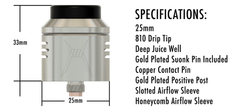 purge mods purge x rda specs specifications features