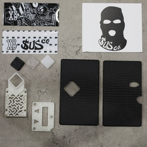 SUS co. Billet Box Diamond Button Set Black Dot w/White Inners