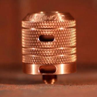 Mini Cap 24 Copper Knurled Side Airflow (Fits Kennedy 24)