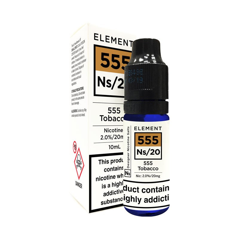 Element Eliquid - 555 Tobacco 10ml 20mg Salt Nic