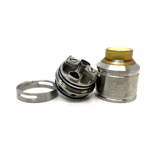 The Sherman 25 RDA Stainless Steel deck
