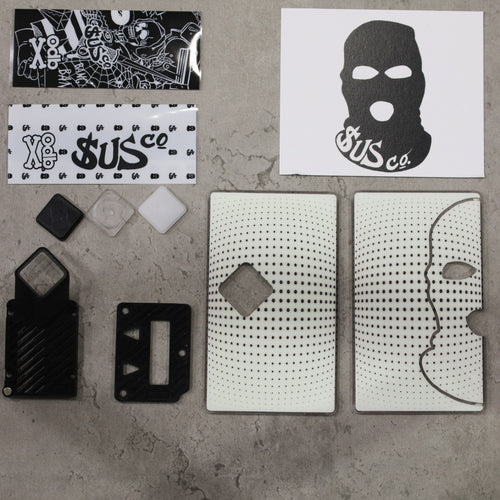 SUS co. Billet Box Diamond Button Set White Dot w/Black Inners