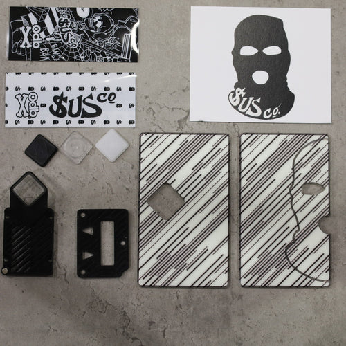SUS co. Billet Box Diamond Button Set White Lines w/Black Inners